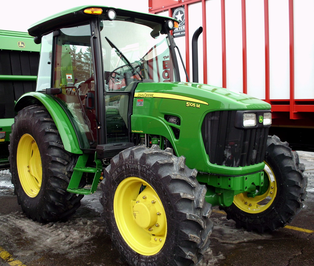 John Deere 5105M Tractor With Cab  | Mark | Flickr
