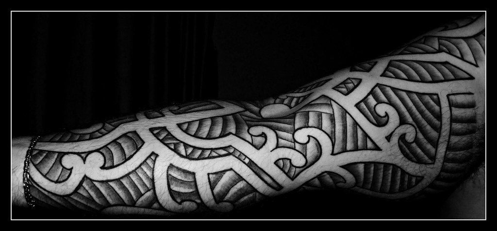 Best Maori Tattoos Inner Arm: Maori Sleeve Tattoo Inner Arm