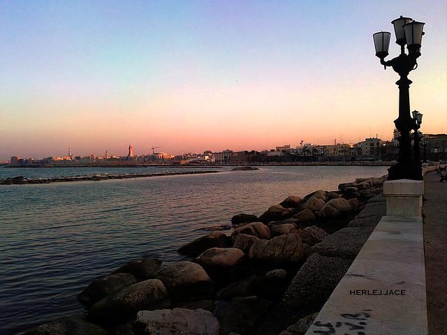 The promenade of Bari