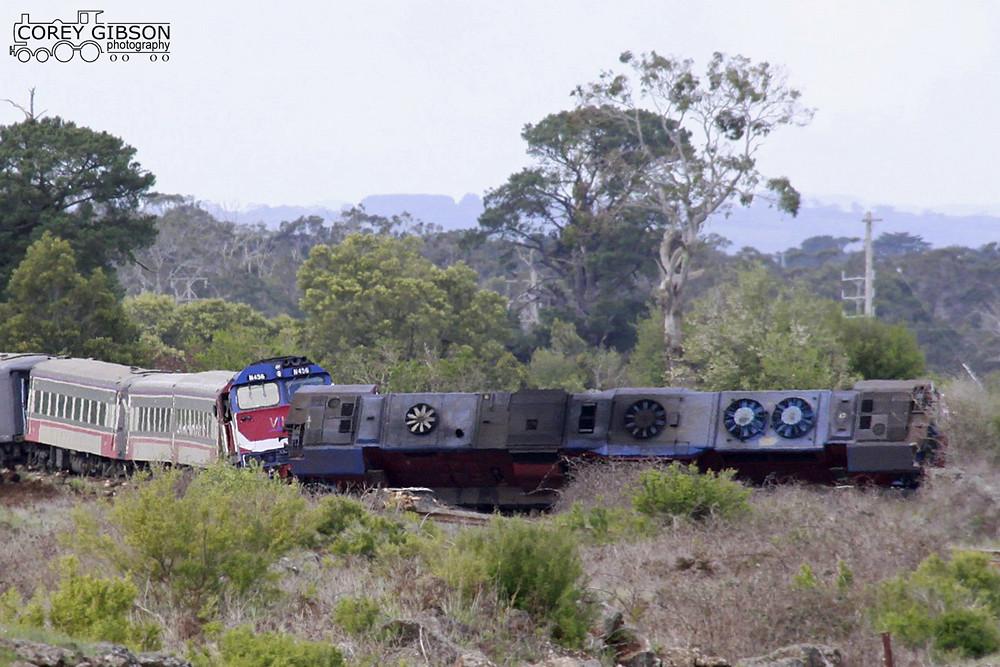 Warrnambool passenger train derailment  | N452 (on side) & N… | Flickr