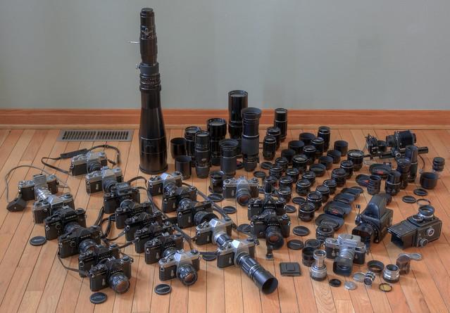 (Mostly) Asahi Pentax Film Cameras and Lenses