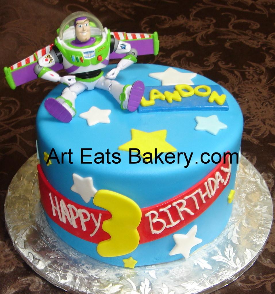 Astonishing Buzz Lightyear Custom Fondant Kids Birthday Cake With Toy Flickr Funny Birthday Cards Online Inifodamsfinfo