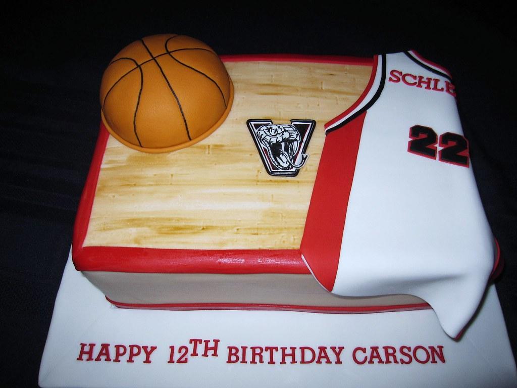 Superb Basketball Birthday Cake Basketball Themed Birthday Cake W Flickr Funny Birthday Cards Online Benoljebrpdamsfinfo
