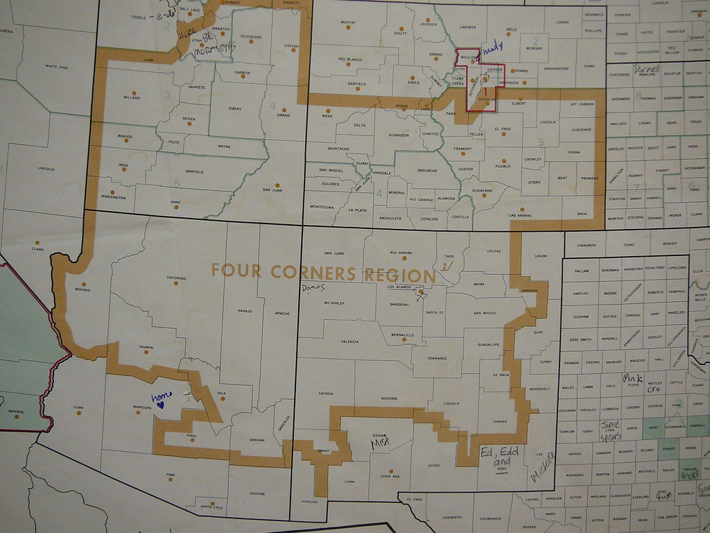 Corners Of The Us Region Map on four corners region, map of arizona and 4 corners, map of west region,