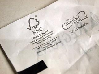 FSC certified receipt