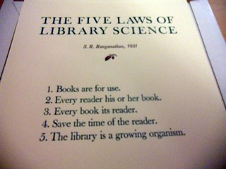 Five Laws of Library Science | by Rochelle Hartman