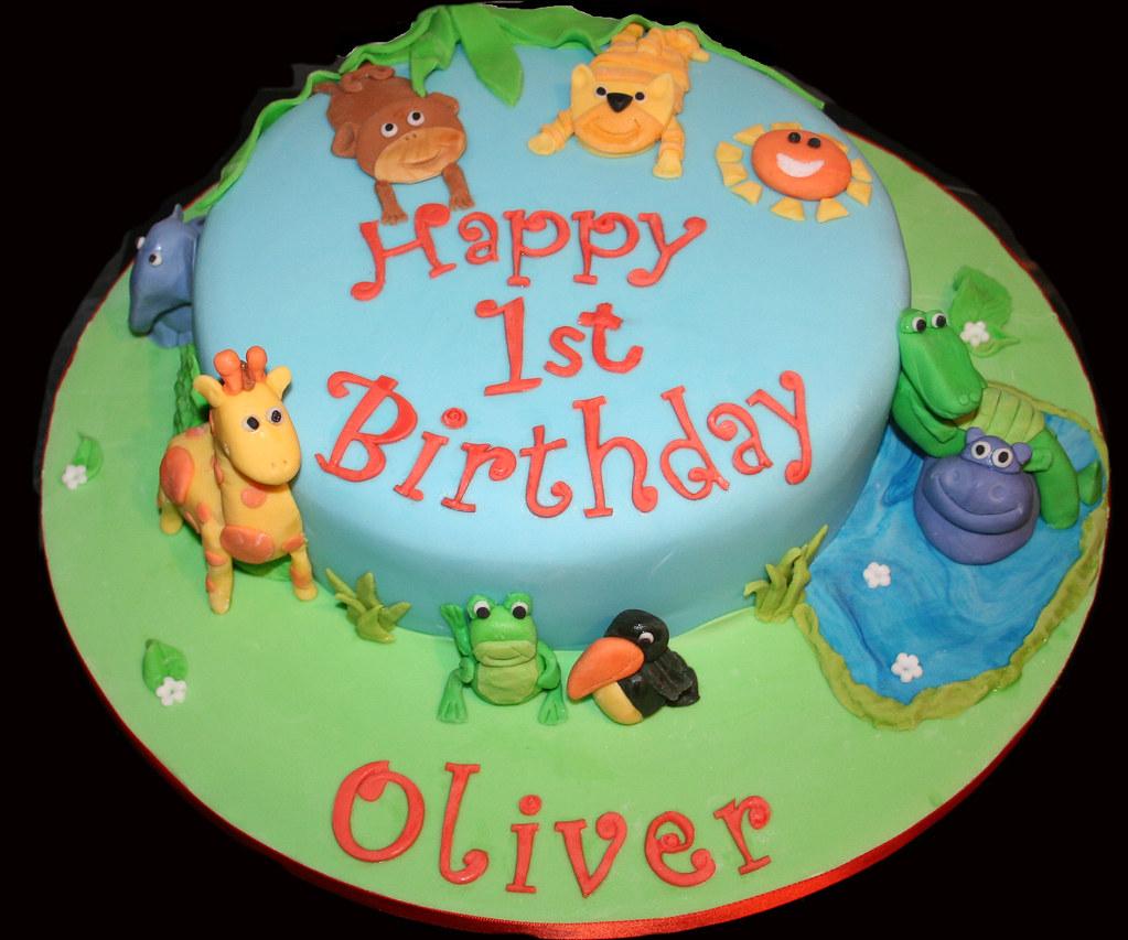 Amazing Jungle Animals Birthday Cake Janet Whitehead Flickr Funny Birthday Cards Online Benoljebrpdamsfinfo