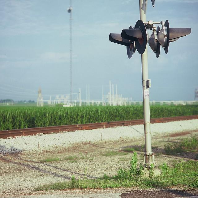 Railroad tracks near Seymour, Illinois