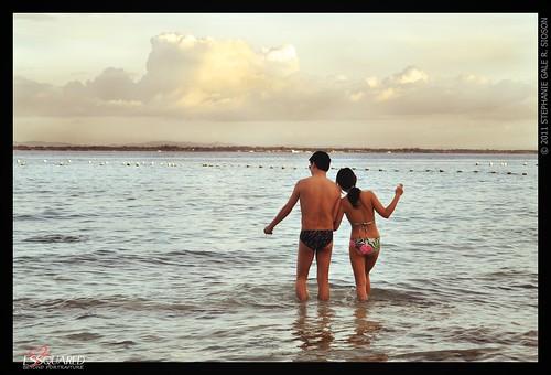 travel sunset sky beach water nikon couple outdoor shangrilamactan mactan d90 essquared