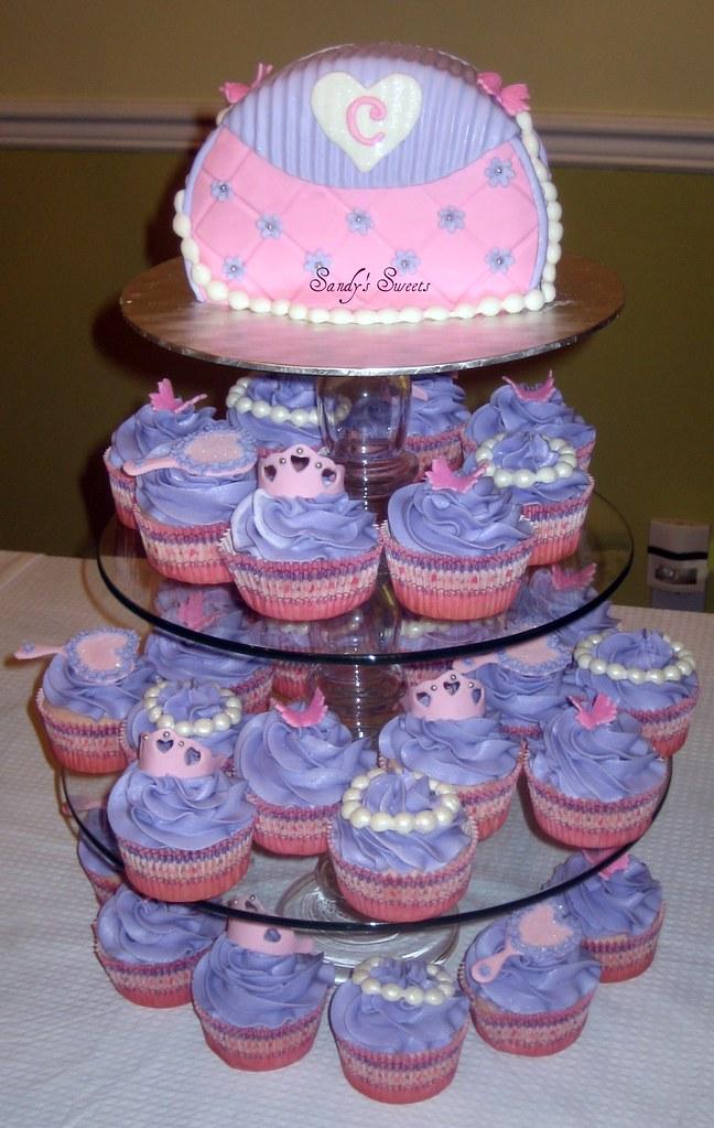 Pleasant Fancy Nancy Birthday Cake Cupcake Tower Inspired By Fancy Flickr Funny Birthday Cards Online Overcheapnameinfo