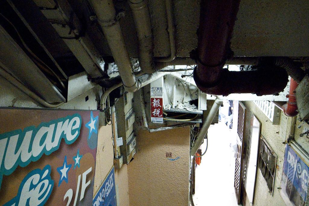 HK 序言書店的樓梯間