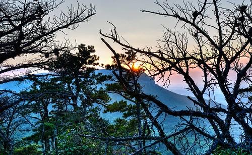 sunset nc hdr hangingrockpark