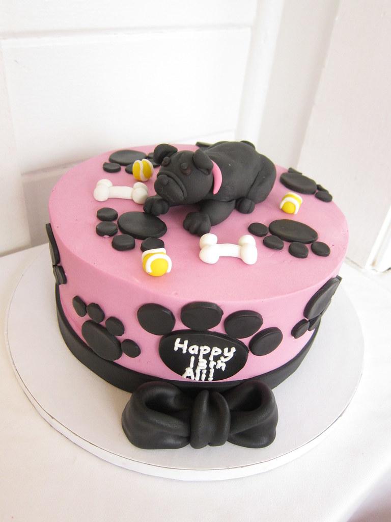 Admirable Pug Birthday Cake Polkadots Olga Flickr Funny Birthday Cards Online Bapapcheapnameinfo