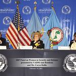Mi, 02/16/2011 - 09:23 - Las mujeres del curso de Seguridad y Políticas Defensa con la Presidente de la Universidad de Defensa Nacional