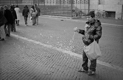 "Image titled ""Making Bubbles, Rome."""