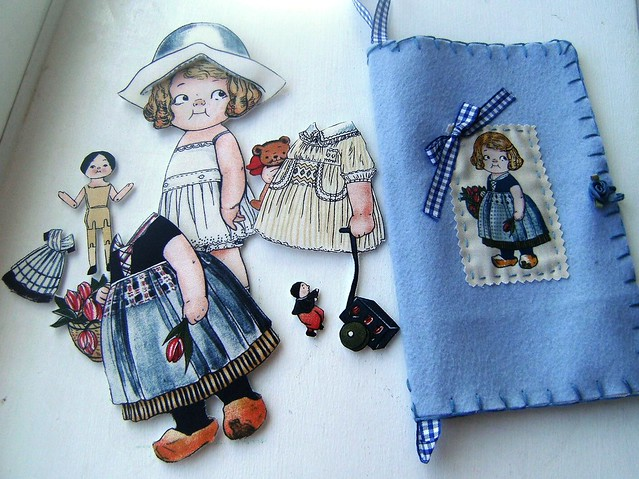 holland fabric paper doll gift set