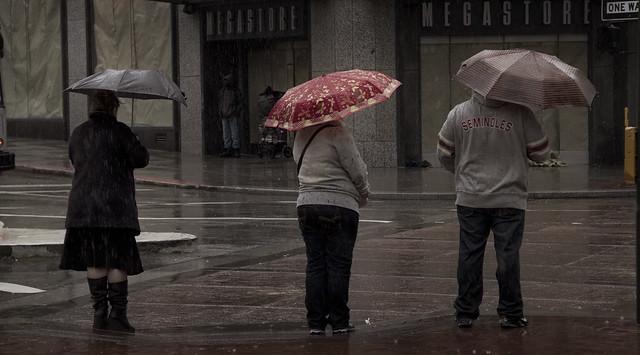 Rain in San Francisco; Market St (2011)