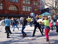 Pillow fight on Square Phillips