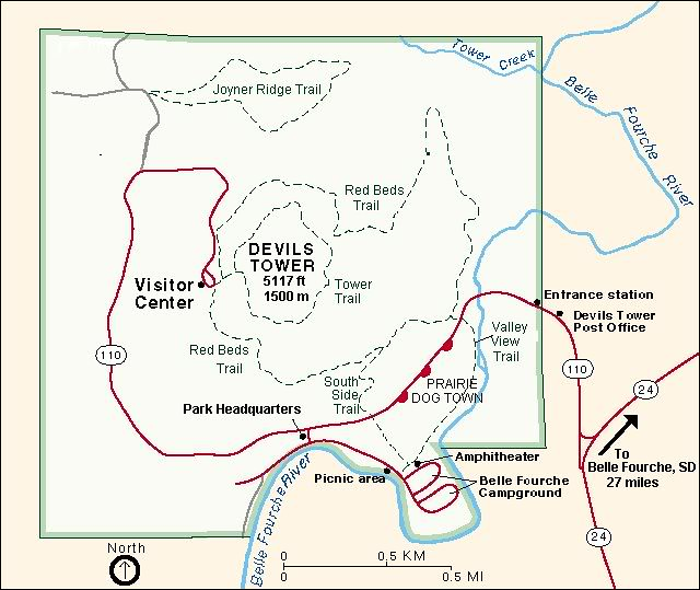 Devils Tower Wyoming Map The Official Map of Devils Tower | LIVING MAEDEANS STYLE | Flickr