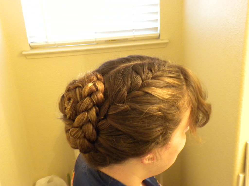 2 French Braids Bunned