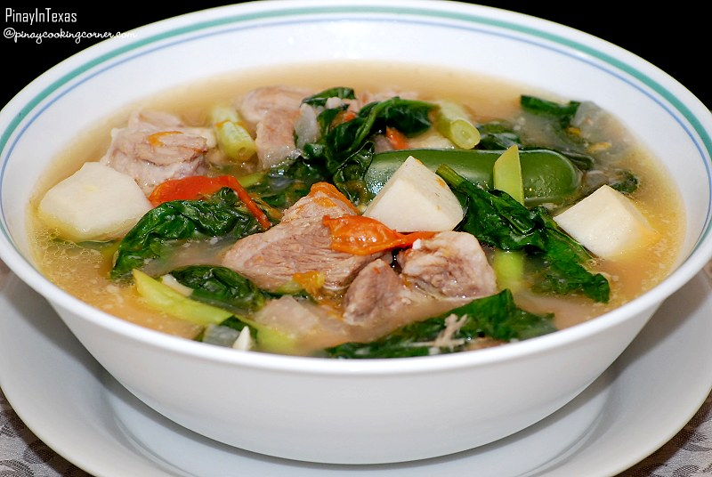 Sinigang Na Baboy Pork In Sour Broth In The Philippines Flickr