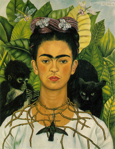 Frida Kahlo - Self-portrait with Thorn Necklace and Hummin… | Flickr