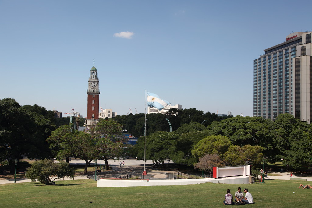 Torre Monumental viewed from Plaza San Martín in Buenos Aires
