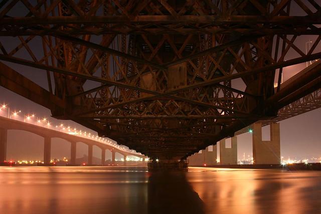 under the bridge downtown…
