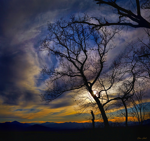 trees winter sunset sky orange sun mountains nature clouds canon landscape northcarolina blueridgemountains naturepoetry colorphotoaward
