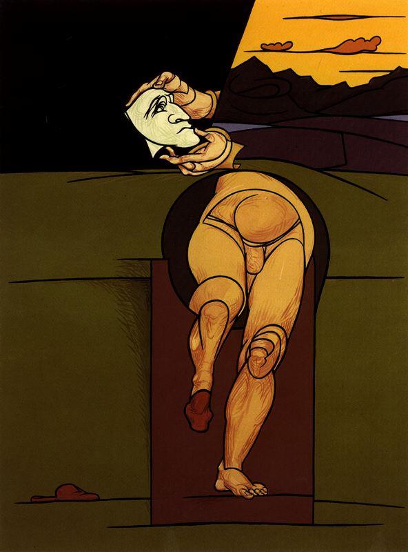 Adami, Valerio (1935- ) - 1983 Self-Portrait