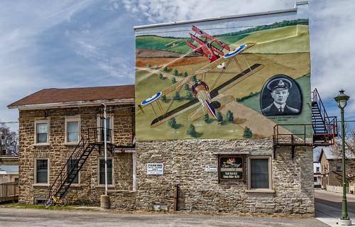 downtown murals redbaron carletonplace manfredvonrichthofen roybrown townmurals 100xthe2014edition 100x2014 image26100 captainaroybrown roybrownmural