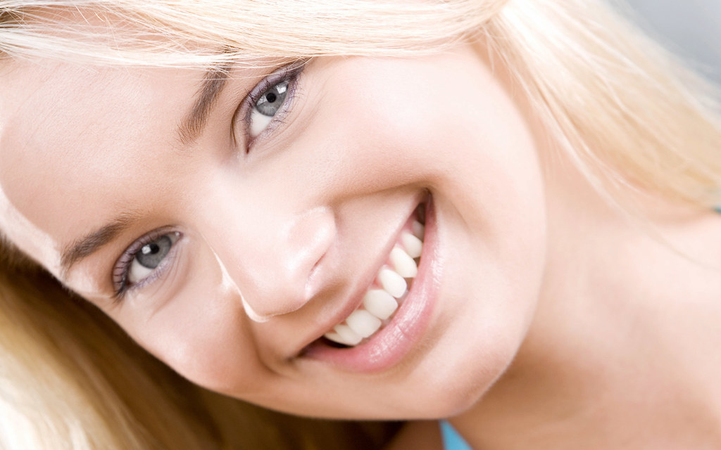 image of a beautiful face after laser hair removal treatment