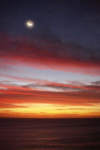 paisajes moon sunrise landscape luna amanecer seafront malecón saúlsantana