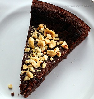 Flourless Nutella Chocolate Cake with Chopped Hazelnuts for World Nutella Day 2011 | by MsAdventuresinItaly