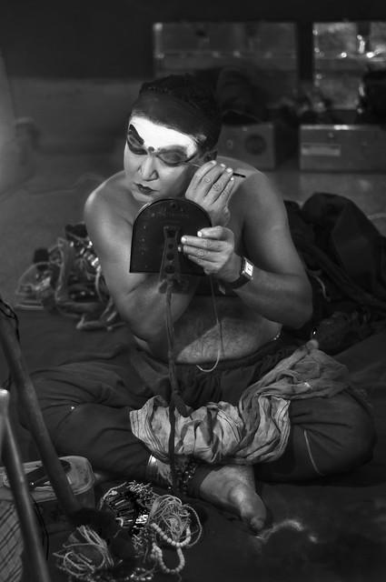 Shaping the Yakshagna - Performer gets Ready - Monochrome