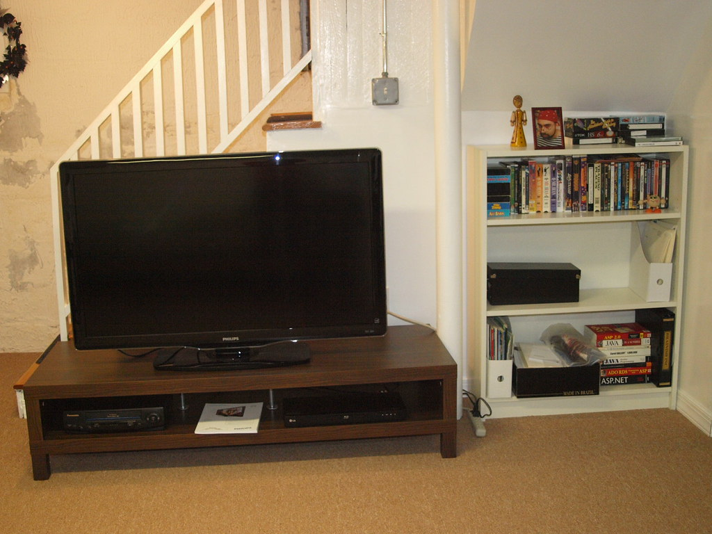 New Tv Setup In Basement The Billy Bookcase Fit The Nook P