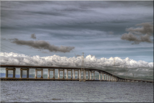 ca city bridge clouds point bay highway san francisco day cloudy foster 100views shipping vanishing mateo 92 hdr cloudscape channel photomatix tonemapped 9890 9891 9889