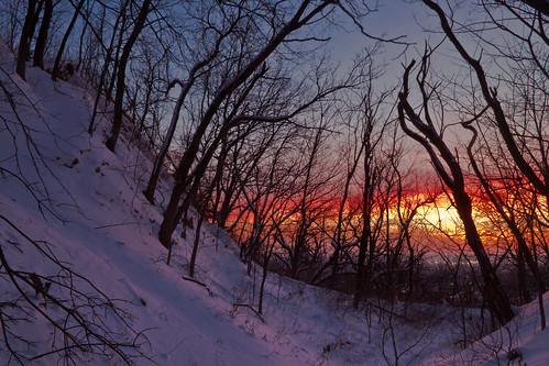winter sunset snow cold night landscape dusk iowa fairmountpark councilbluffs