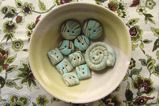 Scrap Clay Buttons