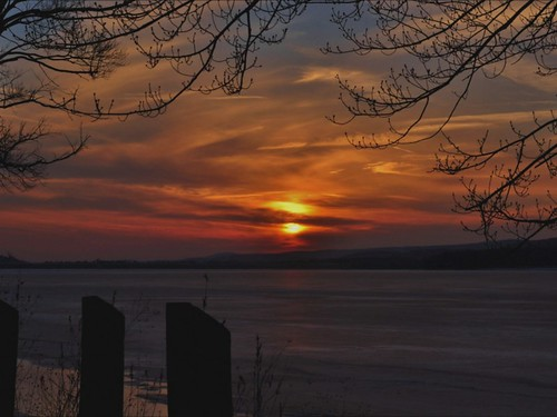 sunset carboncounty beltzvillelake