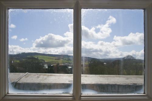 ireland castle window view room durrow