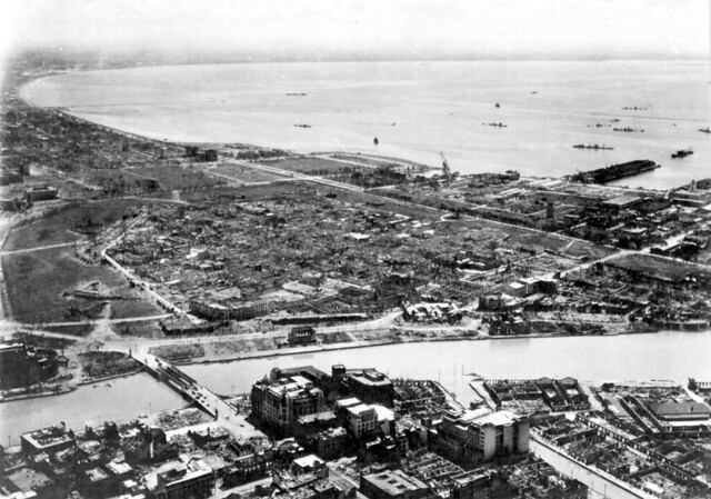 Intramuros, Manila, Philippiines, Just after the Battle for Manila 1945