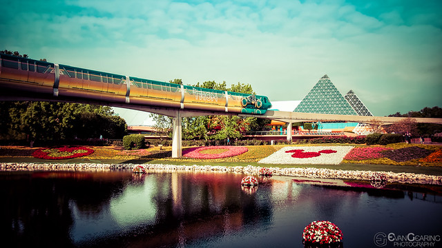The Tron Monorail at Epcot
