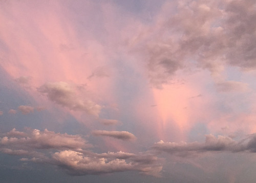 sunset sky clouds evening peace pastel heavenly enchanted celestial