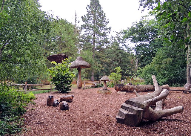 The Log Trail at Kew Gardens, London