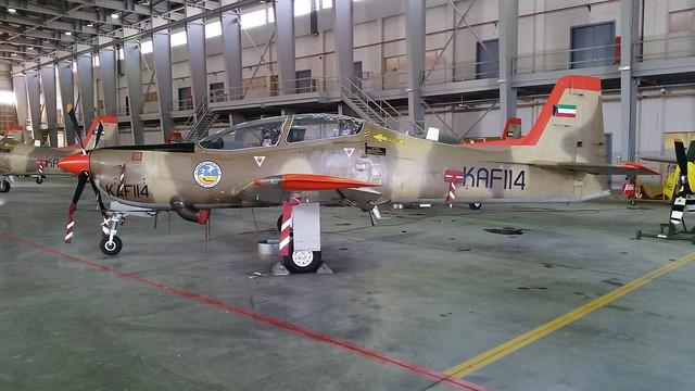 Tucano Mk-52 KAF114 19Sq Kuwait-AF/ KAF. Ali Al Salem Air-Base, Kuwait.