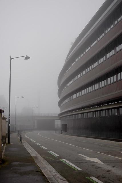 Rennes streets Fete Foraine fog fun fair - atana studio