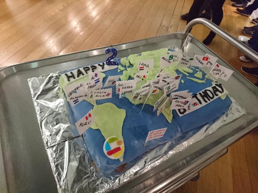 Missing Maps birthday cake