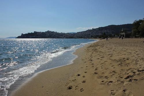 kavala landscape beach coast outdoor seaside sand shore water sea greece makedonia macedonia
