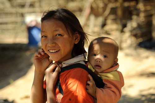 Lao Girl Carrying Baby | by goingslowly